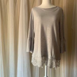LC 3/4 Bell Sleeve Lace Sweater